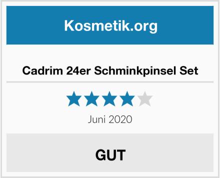 Cadrim 24er Schminkpinsel Set Test