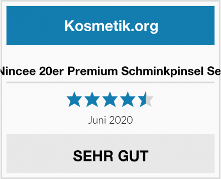 Nincee 20er Premium Schminkpinsel Set Test