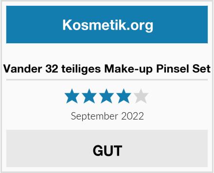 Vander 32 teiliges Make-up Pinsel Set Test