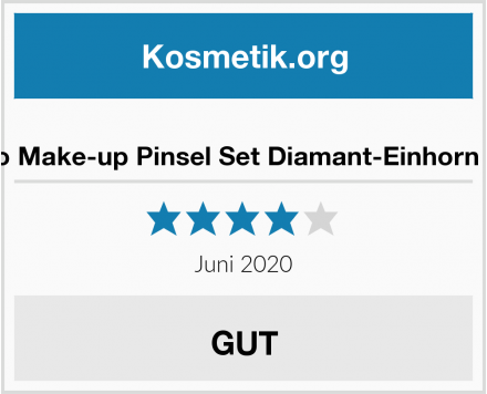 Lapeno Make-up Pinsel Set Diamant-Einhorn Design Test