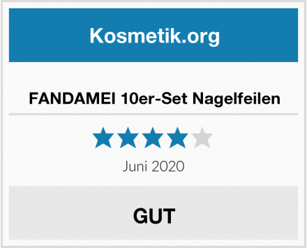 FANDAMEI 10er-Set Nagelfeilen Test