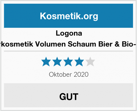 Logona Naturkosmetik Volumen Schaum Bier & Bio-Honig Test