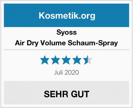 Syoss Air Dry Volume Schaum-Spray Test