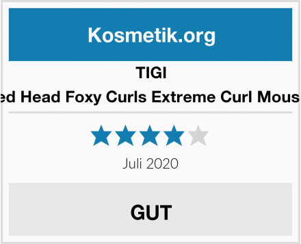 TIGI Bed Head Foxy Curls Extreme Curl Mousse Test