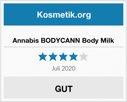 Annabis BODYCANN Body Milk Test