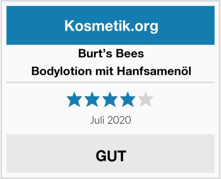 Burt's Bees Bodylotion mit Hanfsamenöl Test