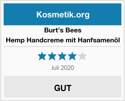 Burt's Bees Hemp Handcreme mit Hanfsamenöl Test