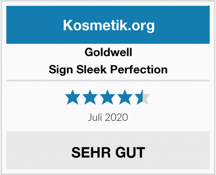 Goldwell Sign Sleek Perfection Test