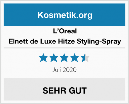 L'Oreal Elnett de Luxe Hitze Styling-Spray Test