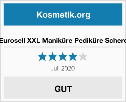 Eurosell XXL Maniküre Pediküre Schere Test