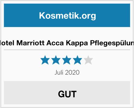 Hotel Marriott Acca Kappa Pflegespülung Test