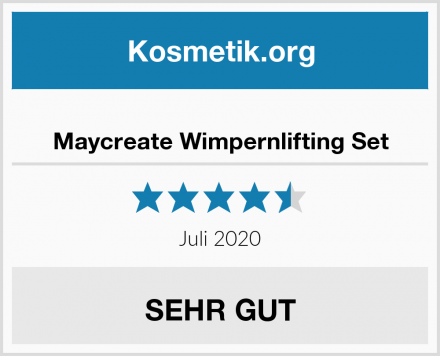 Maycreate Wimpernlifting Set Test