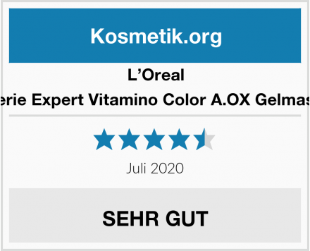 L'Oreal Serie Expert Vitamino Color A.OX Gelmask Test