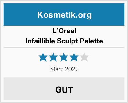 L'Oreal Infaillible Sculpt Palette Test