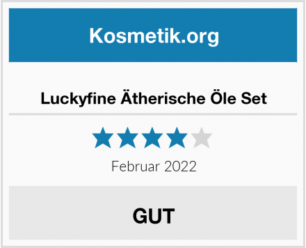 Luckyfine Ätherische Öle Set Test