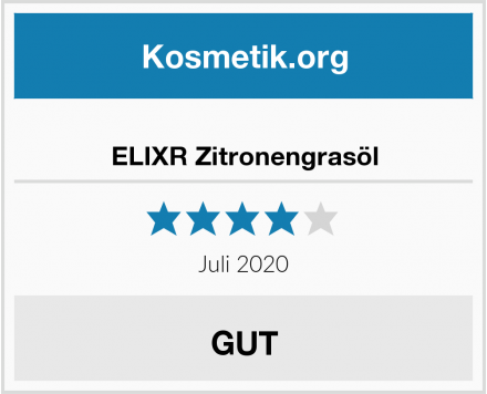 ELIXR Zitronengrasöl Test