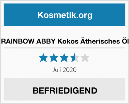 RAINBOW ABBY Kokos Ätherisches Öl Test