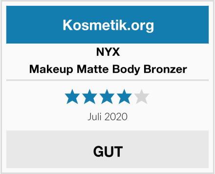 NYX Makeup Matte Body Bronzer Test