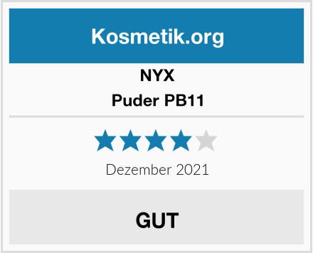 NYX Puder PB11 Test