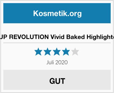 MAKEUP REVOLUTION Vivid Baked Highlighter Gold Test
