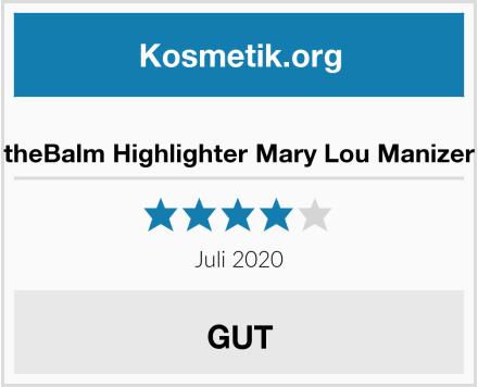theBalm Highlighter Mary Lou Manizer Test