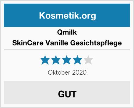 Qmilk SkinCare Vanille Gesichtspflege Test
