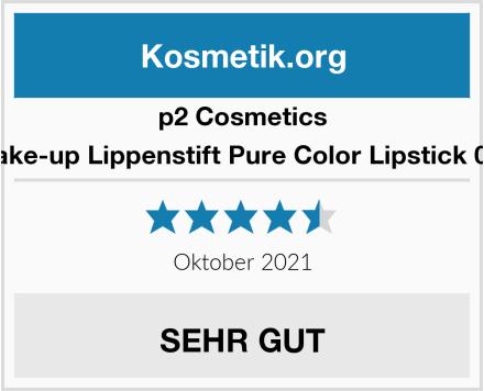 p2 Cosmetics Make-up Lippenstift Pure Color Lipstick 015 Test