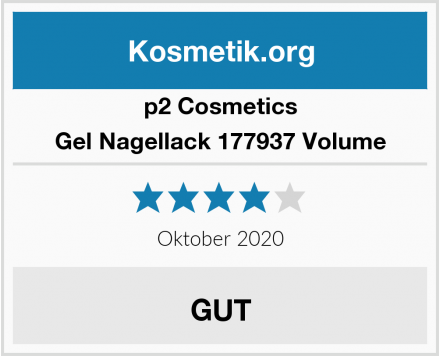 p2 Cosmetics Gel Nagellack 177937 Volume Test