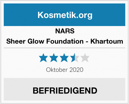 NARS Sheer Glow Foundation - Khartoum Test