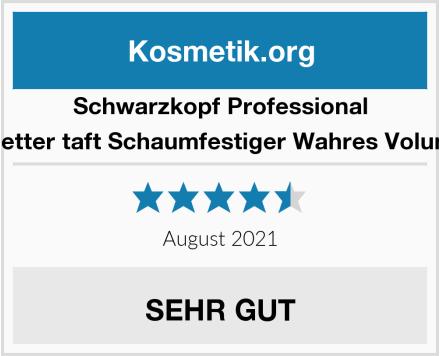 Schwarzkopf Professional 3 Wetter taft Schaumfestiger Wahres Volumen Test