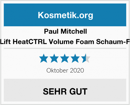 Paul Mitchell Neuro Lift HeatCTRL Volume Foam Schaum-Festiger Test