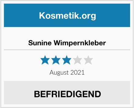 Sunine Wimpernkleber Test