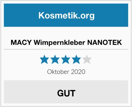 MACY Wimpernkleber NANOTEK Test