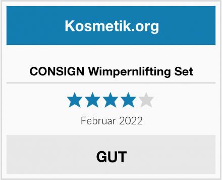 CONSIGN Wimpernlifting Set Test