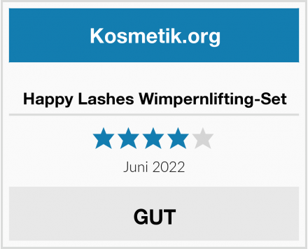 Happy Lashes Wimpernlifting-Set Test
