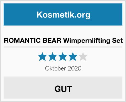 ROMANTIC BEAR Wimpernlifting Set Test