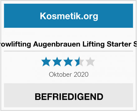 Browlifting Augenbrauen Lifting Starter Set Test
