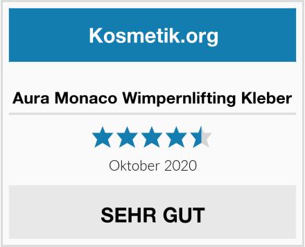 Aura Monaco Wimpernlifting Kleber Test