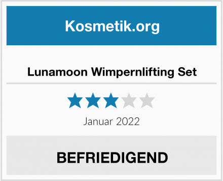 Lunamoon Wimpernlifting Set Test
