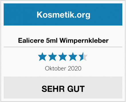 Ealicere 5ml Wimpernkleber Test