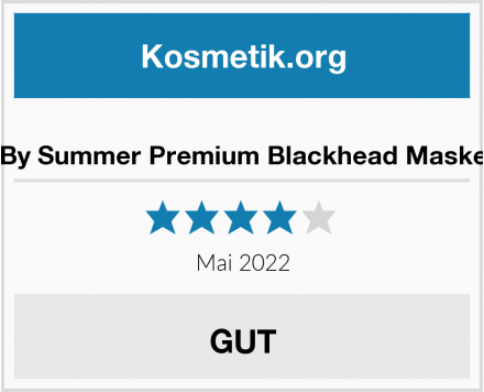 By Summer Premium Blackhead Maske Test