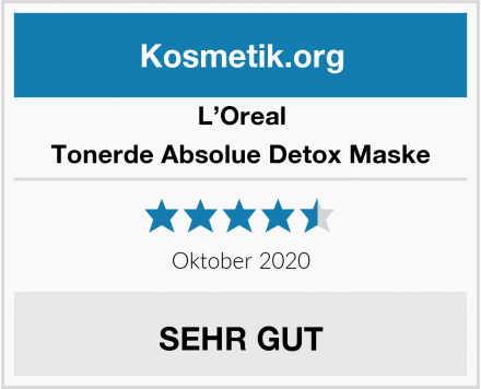 L'Oreal Tonerde Absolue Detox Maske Test