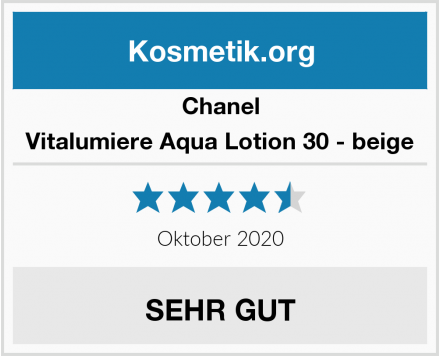 Chanel Vitalumiere Aqua Lotion 30 - beige Test