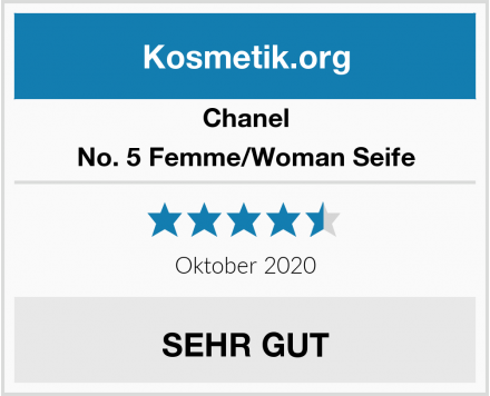 Chanel No. 5 Femme/Woman Seife Test