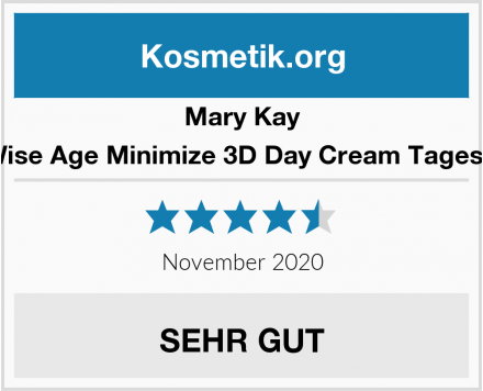 Mary Kay TimeWise Age Minimize 3D Day Cream Tagescreme Test