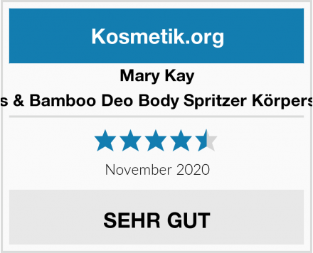 Mary Kay Lotus & Bamboo Deo Body Spritzer Körperspray Test