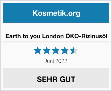 Earth to you London ÖKO-Rizinusöl Test