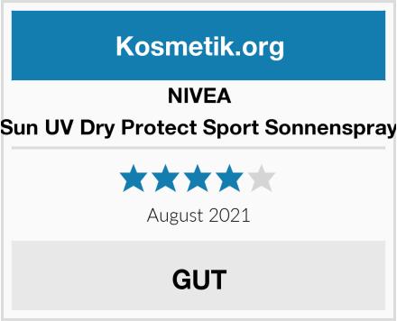 NIVEA Sun UV Dry Protect Sport Sonnenspray Test