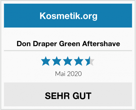 Don Draper Green Aftershave Test