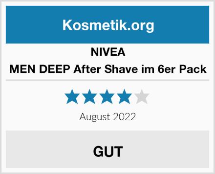 NIVEA MEN DEEP After Shave im 6er Pack Test